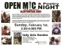 Past Open Mic Night Event Flyers